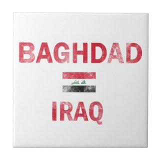 Bandera de los diseños de Bagdad Iraq Azulejo