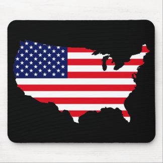 Bandera de los E E U U Alfombrillas De Ratones