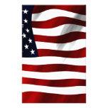 Bandera de los E.E.U.U. América Papeleria Personalizada