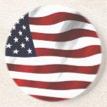 Bandera de los E.E.U.U. América Posavasos Manualidades