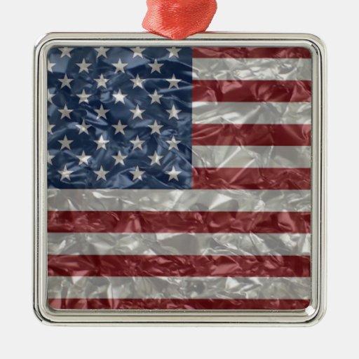 Bandera de los E.E.U.U. - arrugada Adorno Para Reyes