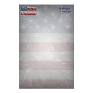 Bandera de los E.E.U.U. - arrugada Personalized Stationery