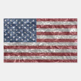 Bandera de los E.E.U.U. - arrugada Rectangular Altavoz
