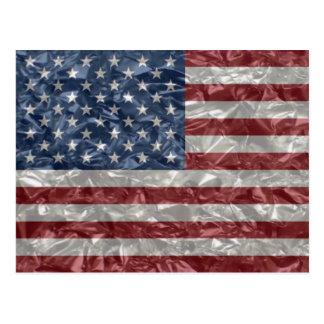 Bandera de los E.E.U.U. - arrugada Postales