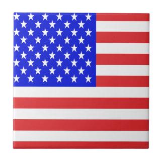 Bandera de los E.E.U.U. Azulejo Cuadrado Pequeño