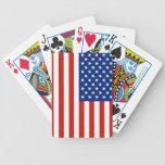 Bandera de los E.E.U.U. Barajas De Cartas