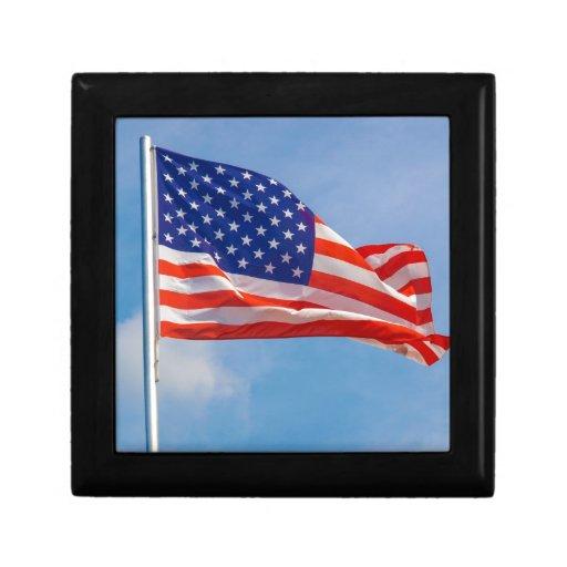 Bandera de los E.E.U.U. Caja De Recuerdo