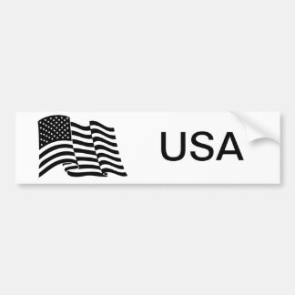 Bandera de los E.E.U.U. Pegatina Para Auto