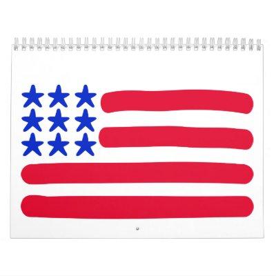 Bandera de los E.E.U.U. Calendario