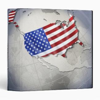 "Bandera de los E.E.U.U. Carpeta 1 1/2"""