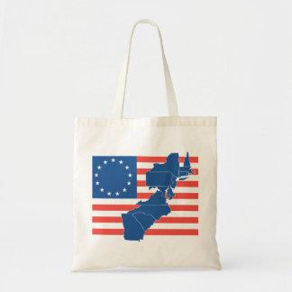 Bandera de los E.E.U.U. con 13 estados