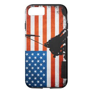 Bandera de los E.E.U.U. con las siluetas de los Funda iPhone 7