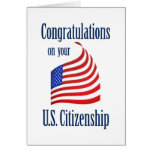 Bandera de los E.E.U.U. de la ciudadanía de los E. Tarjeton