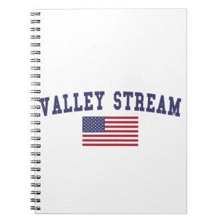 Bandera de los E.E.U.U. de la corriente del valle Note Book