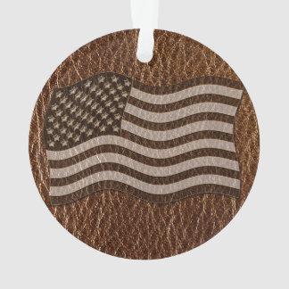 Bandera de los E.E.U.U. de la Cuero-Mirada