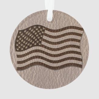 Bandera de los E.E.U.U. de la Cuero-Mirada suave