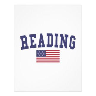 Bandera de los E.E.U.U. de la lectura Membrete A Diseño