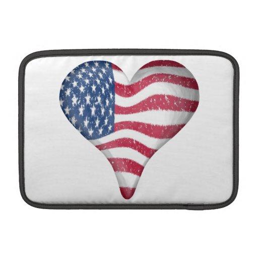 Bandera de los E.E.U.U. de la pintura Fundas Macbook Air