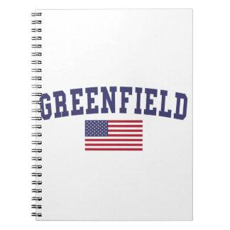 Bandera de los E.E.U.U. de la pradera Cuaderno