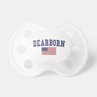 Bandera de los E.E.U.U. de las alturas de Dearborn Chupete