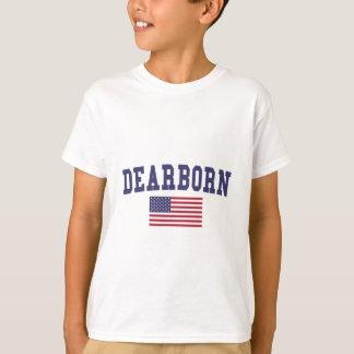 Bandera de los E.E.U.U. de las alturas de Dearborn Playera