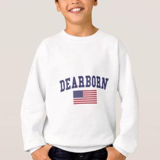 Bandera de los E.E.U.U. de las alturas de Dearborn Sudadera