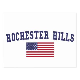 Bandera de los E.E.U.U. de las colinas de Postal