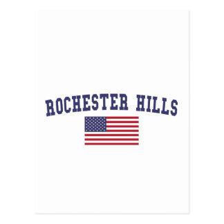 Bandera de los E.E.U.U. de las colinas de Tarjeta Postal