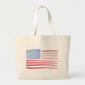 Bandera de los E.E.U.U. de los americanos Bolsa De Tela Grande