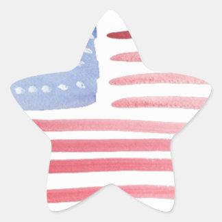 Bandera de los E.E.U.U. de los americanos Calcomanias Forma De Estrella