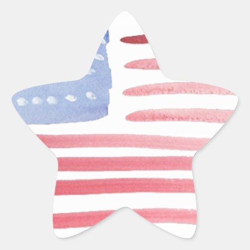 Bandera de los E.E.U.U. de los americanos Pegatina En Forma De Estrella