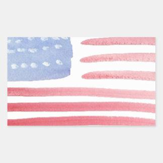 Bandera de los E.E.U.U. de los americanos Pegatina Rectangular