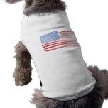 Bandera de los E.E.U.U. de los americanos Playera Sin Mangas Para Perro