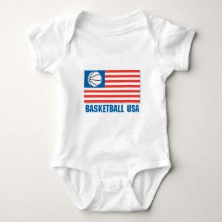 bandera de los E.E.U.U. del baloncesto Body Para Bebé