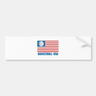 bandera de los E.E.U.U. del baloncesto Pegatina Para Auto
