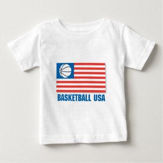 bandera de los E.E.U.U. del baloncesto Remera
