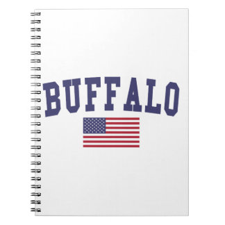 Bandera de los E.E.U.U. del búfalo Spiral Notebook
