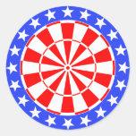 Bandera de los E.E.U.U. del Dartboard Pegatinas