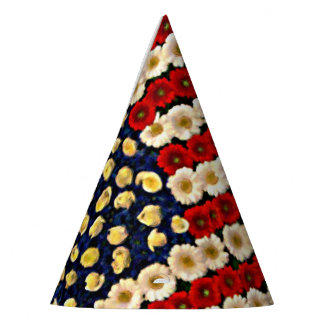 Bandera de los E.E.U.U. del flower power Gorro De Fiesta