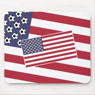 Bandera de los E.E.U.U. del fútbol del fútbol Alfombrillas De Ratón