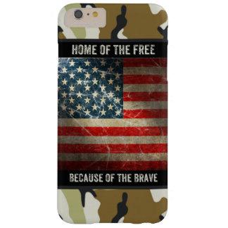 Bandera de los E.E.U.U. del Grunge en el caso más Funda Para iPhone 6 Plus Barely There