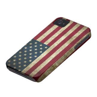 Bandera de los E.E.U.U. del Grunge iPhone 4 Carcasas