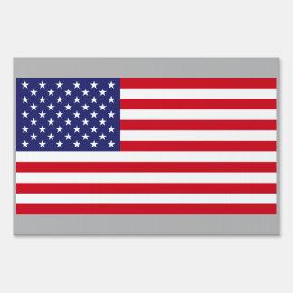 Bandera de los E.E.U.U. del impermeable Letreros