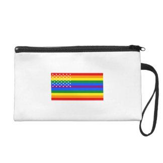 Bandera de los E.E.U.U. del orgullo gay - barras y