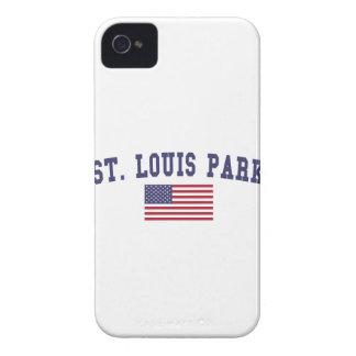 Bandera de los E.E.U.U. del parque de St. Louis iPhone 4 Case-Mate Funda