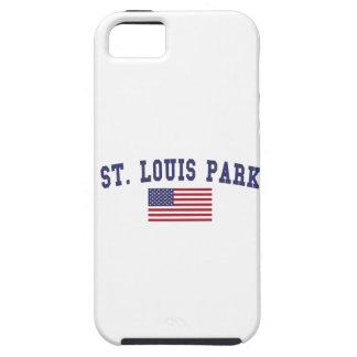 Bandera de los E.E.U.U. del parque de St. Louis iPhone 5 Carcasa