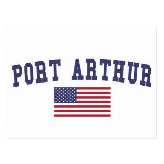 Bandera de los E.E.U.U. del Port Arthur Postales