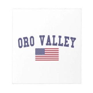 Bandera de los E.E.U.U. del valle de Oro Libretas Para Notas