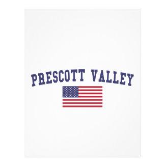 Bandera de los E.E.U.U. del valle del Prescott Plantillas De Membrete