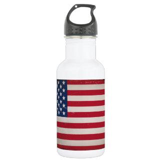 Bandera de los E.E.U.U. del vintage Botella De Agua